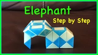 Download Rubik's Twist Or Smiggle Snake Puzzle Tutorial: How to Make an Elephant Shape SLOW Step by Step Video