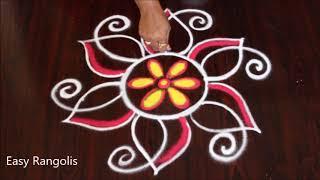 Download Creative Freehand Flower Kolams | Daily Rangoli | Small Muggulu | Easy Rangolis Video