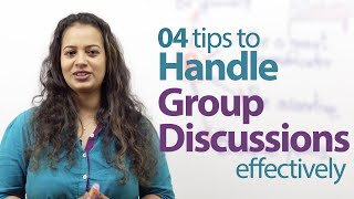 Download 04 tips to handle Group Discussions effectively - Free English lessons Video
