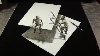 Download New View 3D Drawing on Paper - Trick Art Figures & Ladder - Impossible Drawing on Paper Video
