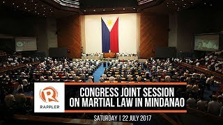 Download LIVE: Congress joint session on martial law in Mindanao Video