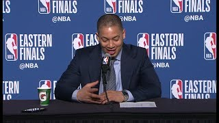Download Tyronn Lue Postgame Interview - Game 6 | Cavaliers vs Celtics | May 25, 2018 | 2018 NBA East Finals Video