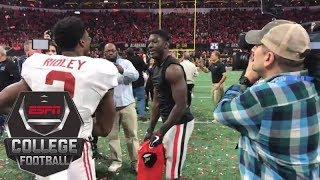 Download Brothers Calvin and Riley Ridley meet after Alabama beats Georgia in national title game   ESPN Video