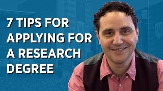 Download 7 Tips for Applying for a Research Degree Video