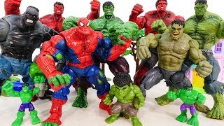 Download HULK SMASH Toys Collections Go ~! Red Hulk, Spider Hulk Vs Incredible Hulk Marvel Avengers Battle Video