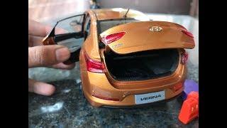 Download Diecast Unboxing-2017 Hyundai VERNA(Flame Orange) 1/18 Paudi Models Video