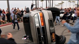 Download TRUCK FLIPS OVER WHILE TRYING DONUTS! ( Destroyed ) Video