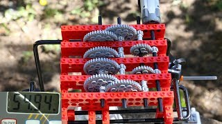 Download Testing different lego gear systems for hoisting Video