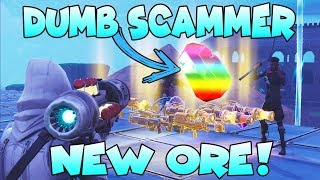 Download Dumb Scammer Nearly Scams *NEW* ORE!! (Scammer Gets Scammed) Fortnite Save The World Video