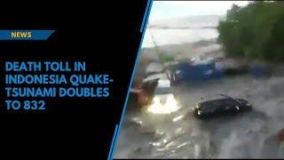 Download Death toll in Indonesia quake-tsunami doubles to 832 Video