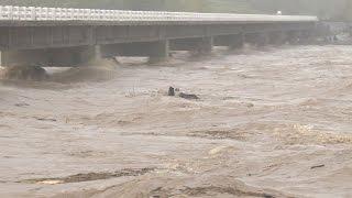 Download Raging Rivers, Flooded Town and Struggling Fishermen - 4K Footage Screener Typhoon Koppu Philippines Video