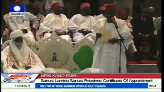 Download New Kano Emir; Sanusi Lamido Receives Certificate Of Appointment Video