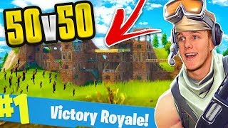 Download THE BIGGEST BASE EVER! 50v50 FORTNITE BATTLE ROYALE Video