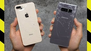 Download iPhone 8 Plus vs Galaxy Note 8 Drop Test! Video
