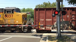 Download Union Pacific 7383 Manifest Rerouted Long And Slow, T Street Railroad Crossing Video