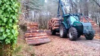 Download Vidéo Forestier #8 ///Tracteur valtra Forestier + remorque forestier /// Video