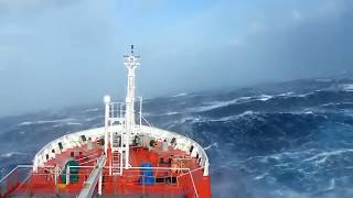 Download A huge ship sailing in Dangerous Ocean waves ever Video