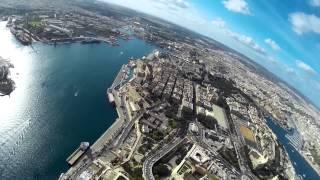 Download Valletta Malta drone view Video