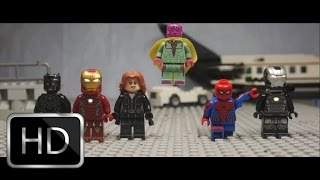 Download Captain America: Civil War Airport Scene in Lego Video