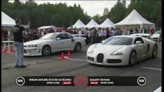 Download Bugatti Veyron vs Nissan Skyline GT-R R34 Video