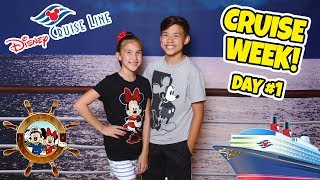 Download ALL ABOARD THE DISNEY MAGIC!!! Room Tour & Sail Away Party! CRUISE WEEK - Day 1 Video