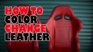 Download How to, color change leather Video