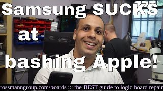Download Samsung: please leave Apple bashing to CERTIFIED professionals. Video