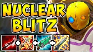 Download NUCLEAR ONE-SHOT BLITZCRANK MID! THE MOST BROKEN GOD-TIER ASSASSIN! League of Legends Video