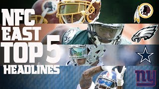 Download NFC East Top 5 Offseason Headlines Heading into the 2017 Season! | NFL NOW Video