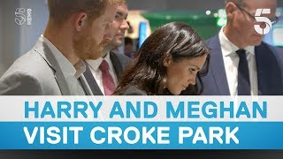 Download Prince Harry and Meghan Markle visit Croke park in Dublin - 5 News Video