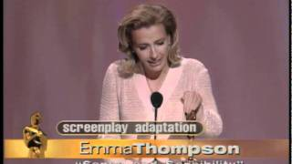 Download Emma Thompson winning an Oscar® for ″Sense and Sensibility″ Video