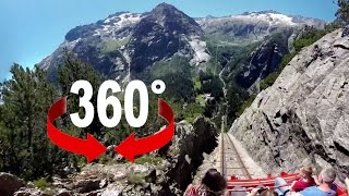 Download 360° ride | Gelmerbahn | Europe's steepest funicular Video