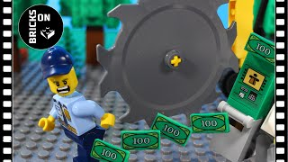 Download Lego Chainsaw Bulldozer ATM Robbery Heist Fail Lego City Police Stop Motion Animation Experimental Video
