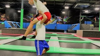 Download WWE MOVES AT THE TRAMPOLINE PARK 3 Video