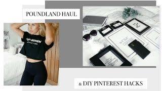 Download £1 POUNDLAND HAUL & DIY PINTEREST INSPIRED ROOM DECOR HACKS | Freya Farrington Video