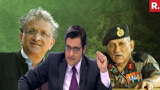 Download Ramachandra Guha's Personal Attack On Army Chief Bipin Rawat   The Debate With Arnab Goswami Video