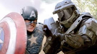 Download CAPTAIN AMERICA vs MASTER CHIEF - Super Power Beat Down (Episode 11) Video