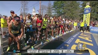Download 2017 Boston Marathon Elite Men's Race Start Video