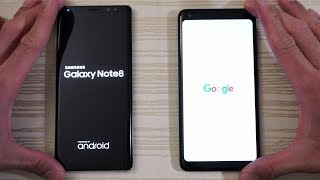 Download Google Pixel 2 XL vs Galaxy Note 8 - Speed Test! (4K) Video