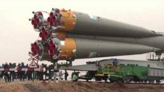 Download Expedition 27 Crew Prepares for Launch as their Soyuz Rocket Move to Launch Pad Video