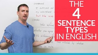 Download The 4 English Sentence Types – simple, compound, complex, compound-complex Video