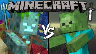 Download Drowned vs. Zombie - Minecraft Video