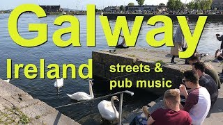 Download Galway, Ireland - busy streets and musical pubs Video