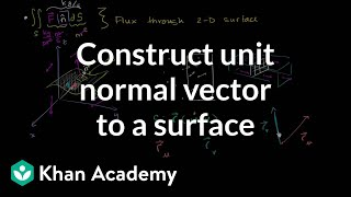 Download Constructing a unit normal vector to a surface | Multivariable Calculus | Khan Academy Video