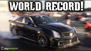 Download 1600 HP CTS-V Hunts Down the World Record, New Fastest V in the World! Video