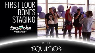 Download FIRST LOOK AT THE STAGING OF BONES BY EQUINOX | BULGARIA EUROVISION 2018 | БНТ ЕВРОВИЗИЯ БЪЛГАРИЯ Video
