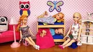Download AFTER School routine ! Elsa and Anna toddlers - bedtime - homework - evening - dinner Video
