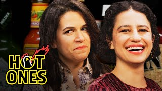 Download Abbi and Ilana of Broad City Go Numb While Eating Spicy Wings | Hot Ones Video