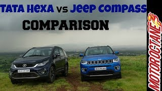 Download Tata Hexa vs Jeep Compass Comparison - जीप कम्पास बनाम टाटा हेक्सा तुलना Video