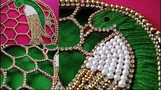 Download Parrot aari cut work design using with normal needle Video